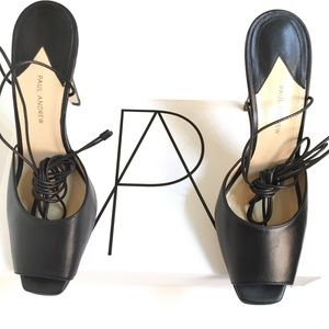 Paul Andrew Look At Me Black Leather Shoes Size 40